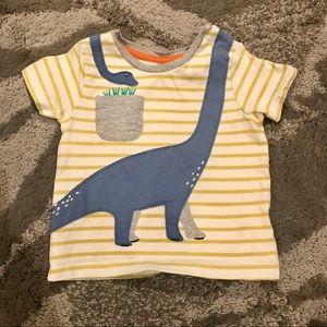 Baby Boden - Striped Dinosaur T-Shirt - 18-24M